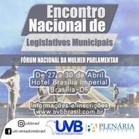 Câmara de vereadores de Bacabal tem 05 representantes em Encontro Nacional de Legislativos Municipais e Fórum Nacional da Mulher Parlamentar